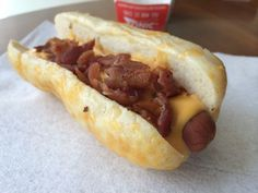 Ultimate Cheese & Bacon Cheesy Bread Dog from Sonic