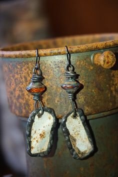 From The Alley To The Gallery: Earrings from 1800's Ceiling Tins