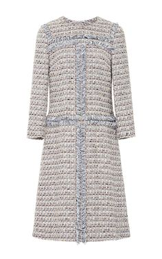 Three Quarter Sleeve Tweed Dress by ALENA AKHMADULLINA for Preorder on Moda Operandi