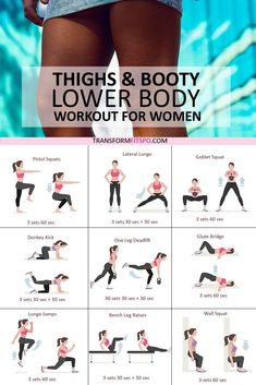 Do this workout if you want to shape up your thighs and booty, your whole lower body will be transformed with this epic workout. Sexy Leg Toner Lower Body CircuitThis killer 30 minute lower body circuit will work all of your legs helping t Fitness Workouts, Fitness Pal, Fitness Workout For Women, Body Fitness, At Home Workouts, Fitness Motivation, Health Fitness, Leg Workout Women, Simple Workouts