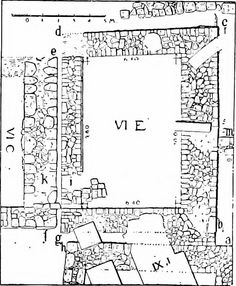 """Budynek VI E (from: """"Mycenaean Troy, based on Dörpfeld's excavations in the sixth of the nine buried cities at Hissarlik"""" 1903)"""