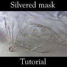 Silvered mask | JewelryLessons.com