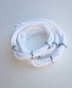 t-shirt and washers-fab bracelet