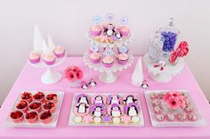 Glorious Treats » Pink and Purple Penguin Party