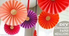 DIY decorative paper medallions