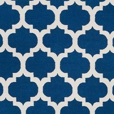 Surya Frontier Royal Blue Accent Rug - 2' x 3' - Yellow