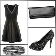 Kleid mit Strass
