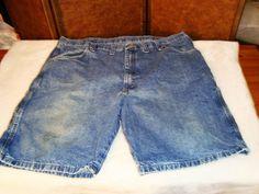 Wrangler Sz 44 Men's Blue Jean Denim Carpenter Painter Shorts #Wrangler #CarpenterUtility