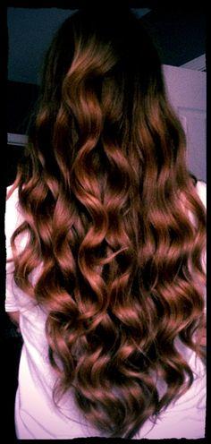Real curly long hair!