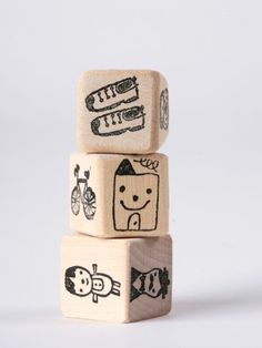 Tell me a story. To play, you roll the dice which features images of objects, people or settings and tell a story based on the pictures that appear.