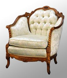 Walnut French Victorian Style Parlor Chair | Maine Antique