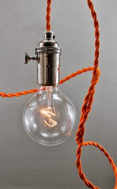 Wire your own pendant light and make a cluster lamp.