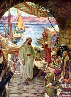Lucas 5:27-28 Después de estas cosas salió, y vio a un publicano llamado Leví, sentado al banco de los tributos públicos, y le dijo: Sígueme. Y dejándolo todo, se levantó y le siguió.
