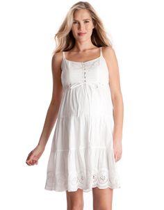 c889a60874b94 White Cotton Maternity Dress. Western MaternityDiscount Maternity  ClothesAmazon ...