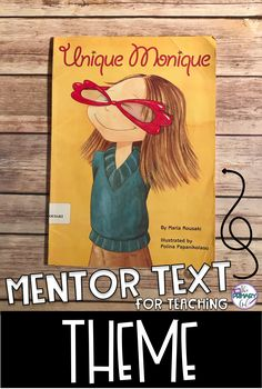 If you are teaching Theme, Unique Monique is a great book to use as a Mentor Text for Upper Elementary! Reading Lessons, Reading Skills, Teaching Reading, Reading Logs, Guided Reading, Math Lessons, Teaching Ideas, Learning, Reading Comprehension Skills