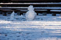 Shakujii Park snowman, Tokyo JAPAN