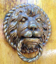 Door Knocker in Amsterdam, Netherlands. Amsterdam Netherlands, Door Furniture, Door Knockers, Knock Knock, Lion Sculpture, Doors, Statue, Nice, Art