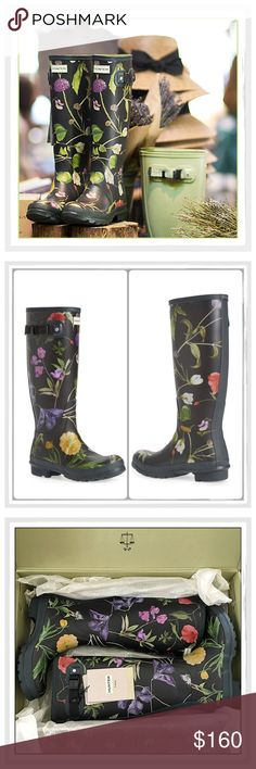 ✨Hunter Ltd. Edition UK Royal Horticulture Boots✨ ✨Hunter Ltd. Edition UK Royal Horticulture Society Tall Wellie Boots✨Topped with a gorgeous floral print from the Royal Horticultural Society archives, these tall rubber boots are hand-crafted by Hunter using flexible and waterproof rubber✨These Are Ltd. Edition Boots And Are Getting Hard To Find✨These Boots Were Supposed To Be A Size 7, But They Came In A 7 Box And Are An 8✨They Are Too Big For Me✨Perfect Unworn Condition With Tags ✨They Are…