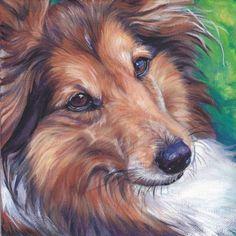 sable Shetland Sheepdog sheltie art print CANVAS by TheDogLover, $19.99