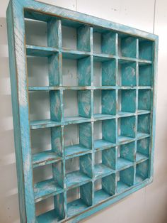 Primitive shadow box Primitive wall shelf by LynxCreekDesigns Shadow Box Shelves, Cubby Shelves, Cubbies, Display Shelves, Glass Shelves, Tea Cup Display, Coffee Mug Display, Bathroom Wall Shelves, Shelf Wall