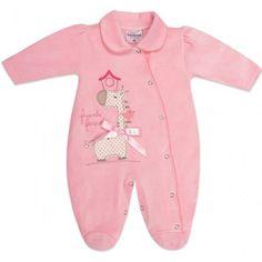 Macacão de Plush para Bebê Menina Girafinha - Travessus