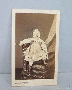 ANTIGUA FOTOGRAFIA DE NIÑA POST-MORTEM. SIGLO XIX - Foto 1