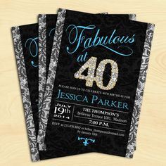 40th Birthday Party Invitation / For Women / by TheStarDustFactory