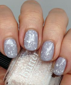 butter LONDON Doily over Muggins - visit http://bit.ly/nailsuk to learn from the best nail artists