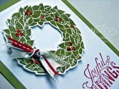 Stampin' Up! Wonderful Wreath Card - The first of the class cards