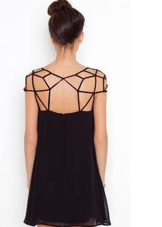 Little Black Dress Woven Hollow Grid on Luulla