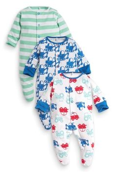 Buy Three Pack Tractor And Digger Sleepsuits (5LB-2yrs) online today at Next: United States of America
