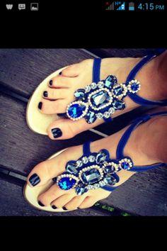 wholesale dealer 6408f d13aa Sapphire and diamond rhinestone blue sandals Kengät Sandaalit, Kesäkengät,  Kesällä Sandaalit, Kengät,