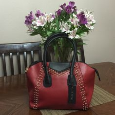 "Beautiful Burgundy Bag  Really nice soft bag. Size width: 12"" height: 10.5"" depth: 6"" KMQ Bags Hobos"