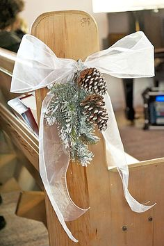 Enchanting Winter Wedding in Ste-Adèle, Québec Pinecone and fir wedding aisle decor Wedding Table, Diy Wedding, Rustic Wedding, Dream Wedding, Wedding Church, Snowy Wedding, Winter Wedding Boquet, Pine Cone Wedding, Evergreen Wedding