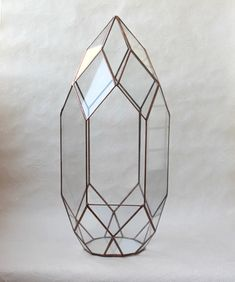 Флорариум. Орхидариум №85 медный. Геометрический флорариум, высота 45см