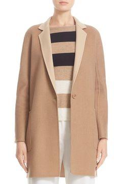 MAX MARA Lillo Wool & Cashmere Bicolor Coat. #maxmara #cloth #