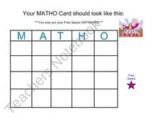 Exponent Bingo on the SMARTBoard product from Mrs-Knapps-Sack on TeachersNotebook.com