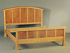 Handmade Cherry and Madrone Temple Bed from Michael and Paul Wilson of Wilson Woodworking. Handcrafted in Windsor, Vermont.