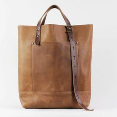 Hansen Tote Brown Leather by TM1985 on Etsy, $350.00
