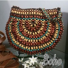 BOHO. Beaded Shoulder Bag Gorgeous beaded Boho Bag, in perfect condition not one bead is damaged or missing. Fashion Express Bags Shoulder Bags