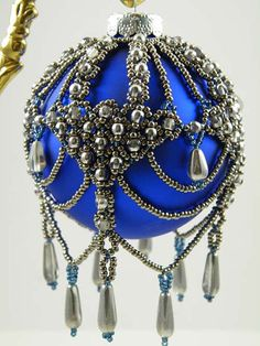 Beading Tutorial Beaded Brocade Ornament by KellyWiese on Etsy