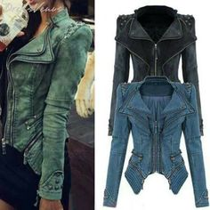 Cute jacket! I'd choose either the black or blue one!
