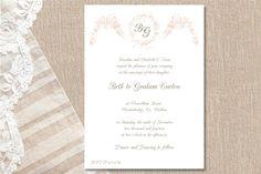Appleberry - Invitations  A sweet 'Floral Cascade' for a fairytale wedding.