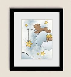 11 x 14 Teddy Bear Nursery Wall Art Girls or by NaturesHeavenlyArt