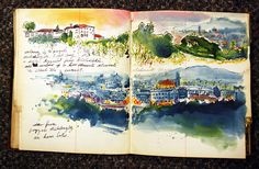 Beautiful watercolor sketchbook of Italy
