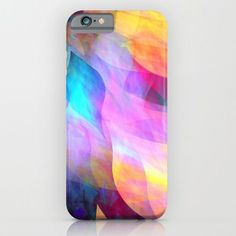 Colourful abstract with leaf shapes iPhone & iPod Case