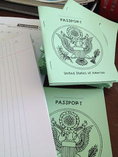 Classroom passports that can be used for anything :)