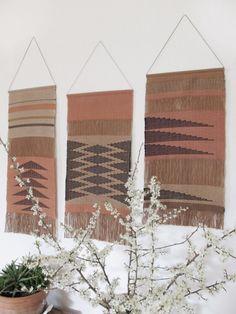 Handwoven wall hangings by La Tòrna. https://www.facebook.com/latorna7