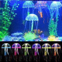 Fluorescent Coral Plant Aquarium Glow In The Dark Fish Tank Ornament Decor FL
