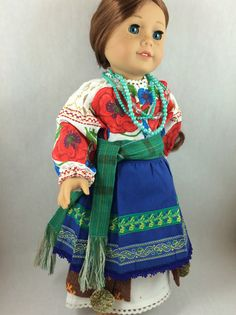Traditional Ukrainian 1800s Costume for 18 Dolls by OlenaExclusive